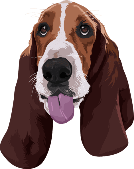 sample cartoon of beagle