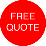 free quote badge on cartoon logo contact form