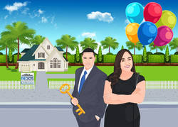 real estate caricature sample for menu