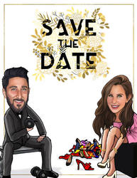 save the date cartoon sample for menu